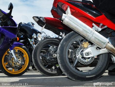 pneus des motos