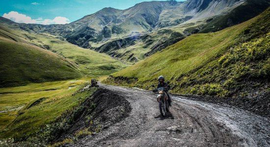 Parcours de moto en Auvergne